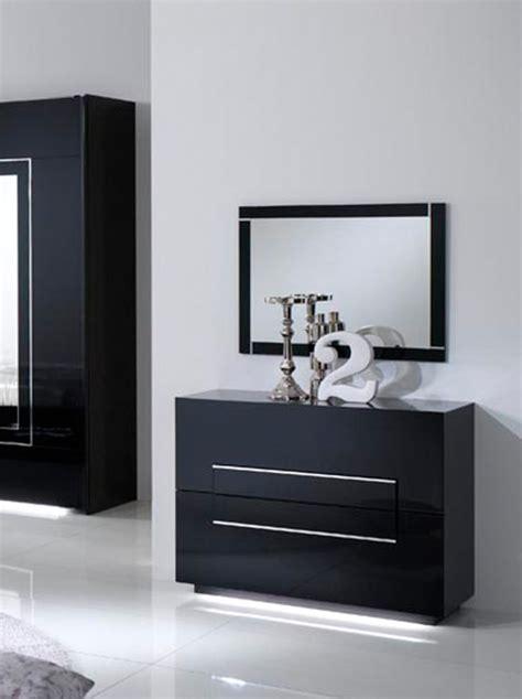 commode adulte commode 2 tiroirs city laque noir chambre 192 coucher