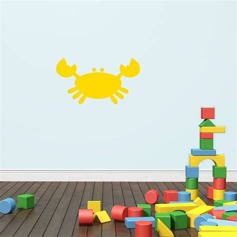 kids bathroom wall stickers kids crab bathroom vinyl wall sticker by mirrorin