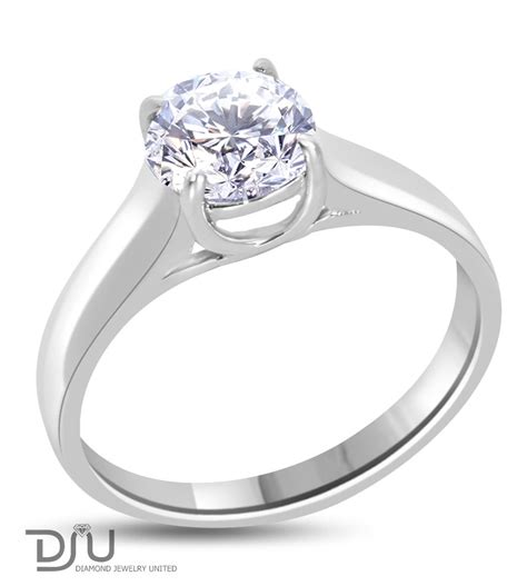 1 Carat Ring by 1 Carat F Si1 Solitaire Engagement Ring Set