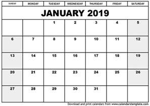 Calendar 2018 And 2019 Printable January 2019 Printable Calendar 2018 Calendar Printable