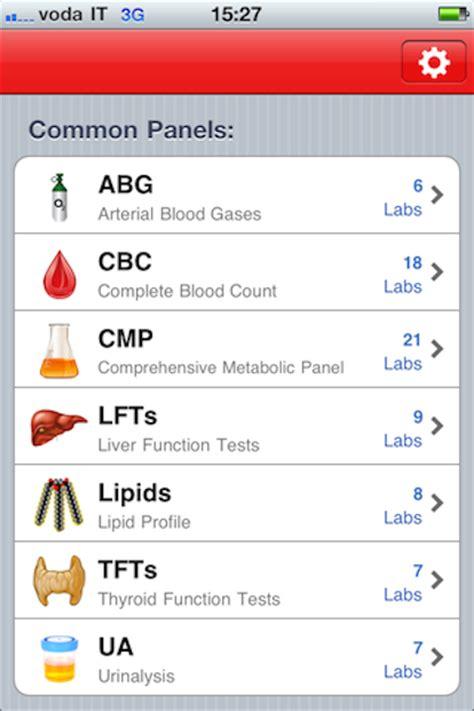 reuma test valori di riferimento applicazioni mediche professionali pocket lab values