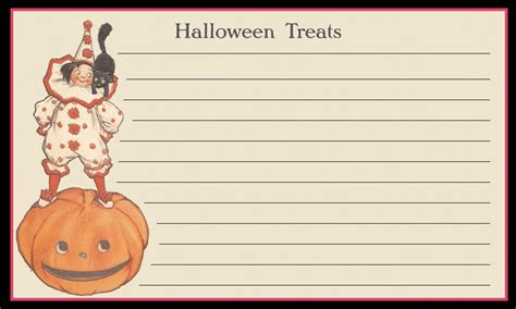 printable halloween recipes the nostalgic appeal of recipe cards curious portraits