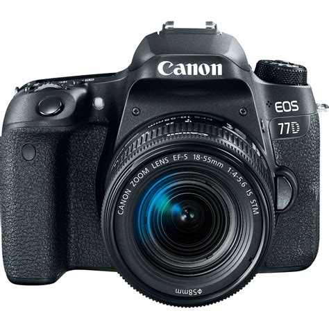 canon camaras de fotos canon eos 77d dslr camera with 18 55mm lens 1892c016 b h photo