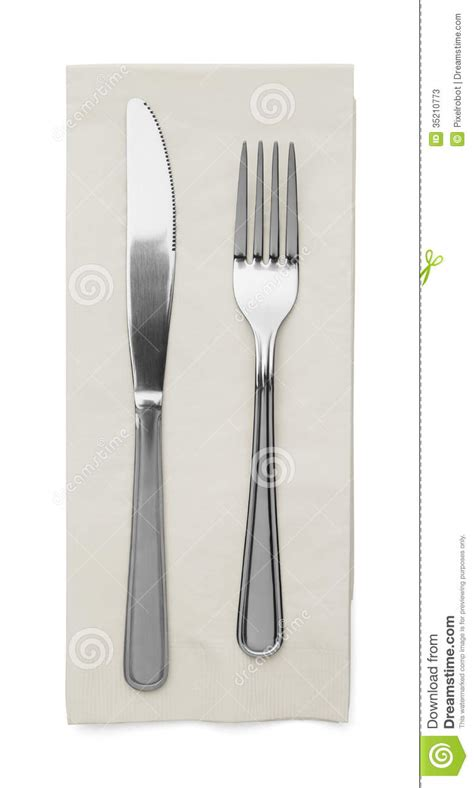 Extended Dining Table silverware set stock photos image 35210773