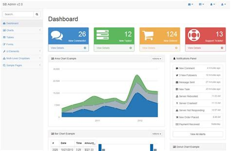jquery layout bootstrap 20 free premium bootstrap admin dashboard templates envato