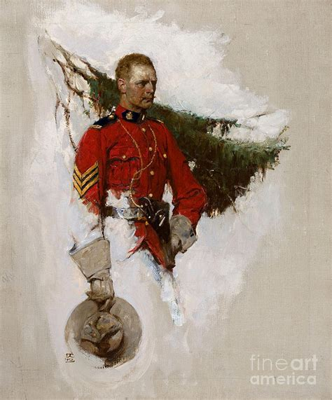 New American Home Plans by Canadian Mountie Painting By Dean Cornwell