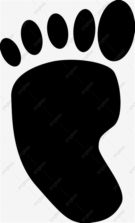 Black Left Foot Footprint Decoration Illustration