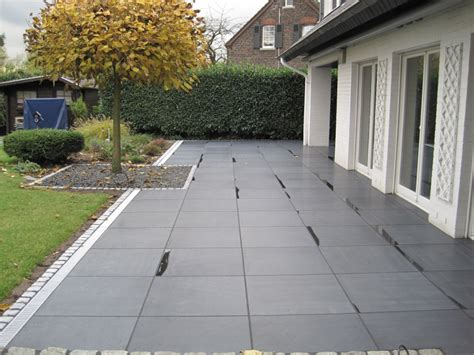 Betonplatten Streichen Terrasse by Garten Und Landschaftsbau Thorsten Behmer