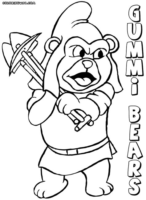 gummy coloring pages gummi bears coloring pages coloring pages to and print