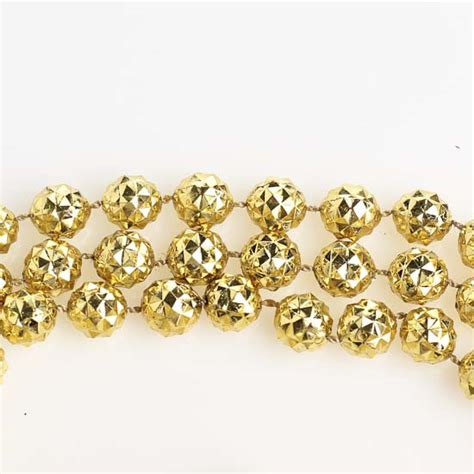 10mm metallic gold faceted bead garland 9 feet