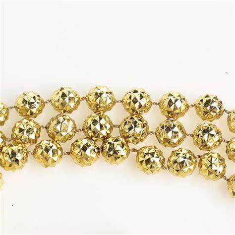 bead garland 10mm metallic gold faceted bead garland 9
