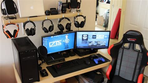 gaming setup my gaming setup my pc xbox one ps4 more march 2014