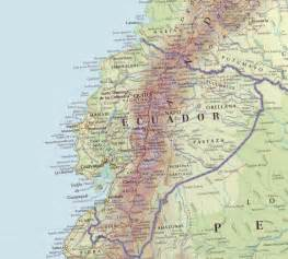 detailed map geography detailed map of ecuador