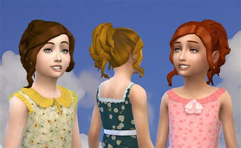 sims 4 child hair cc mystufforigin curly ponytail for girls sims 4 hairs