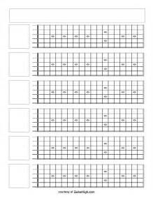 Printable Guitar Fretboard Template by Blank Guitar Fretboard Search Blank Fretboard