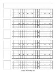 Guitar Fretboard Template by Blank Guitar Fretboard Search Blank Fretboard