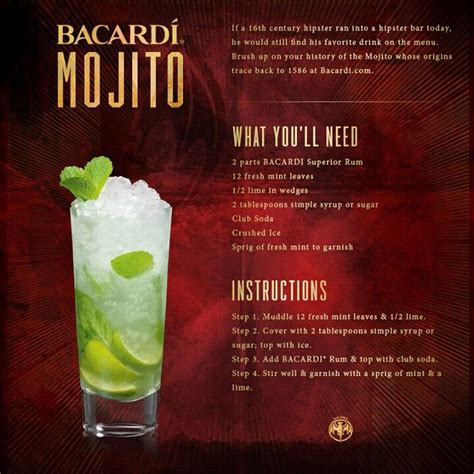 bacardi mojito recipe the 25 best bacardi mojito ideas on how to