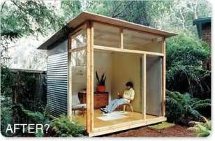Backyard Guest Room by Relaxshacks Com Shed Plans For The Md100 Modern Shed