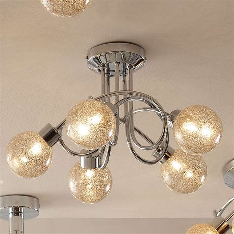 Galaxy Lighting 612796ch Glitter Flush Mount Ceiling Light Lowe S Canada Glitter Ceiling Light Avie