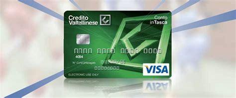 perta credito valtellinese conto intasca ecco la ricaricabile credito