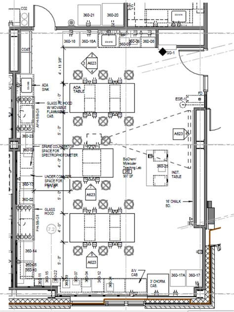 laboratory floor plan biochem teaching lab