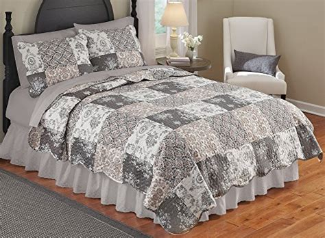 Quilts Etc Coupon by Collections Etc Tessa Patchwork Bedroom Quilt King Mocha
