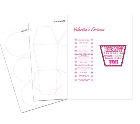 fortune cookie template v day printable fortune cookies box free printable