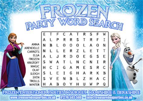 printable frozen word search a free printable frozen movie wordsearch childrens