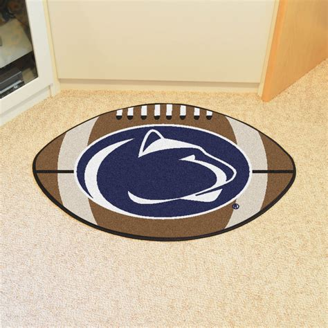 penn state area rug fan mats 4231 psu penn state nittany lions 20 5 quot x 32 5 quot football shaped area rug
