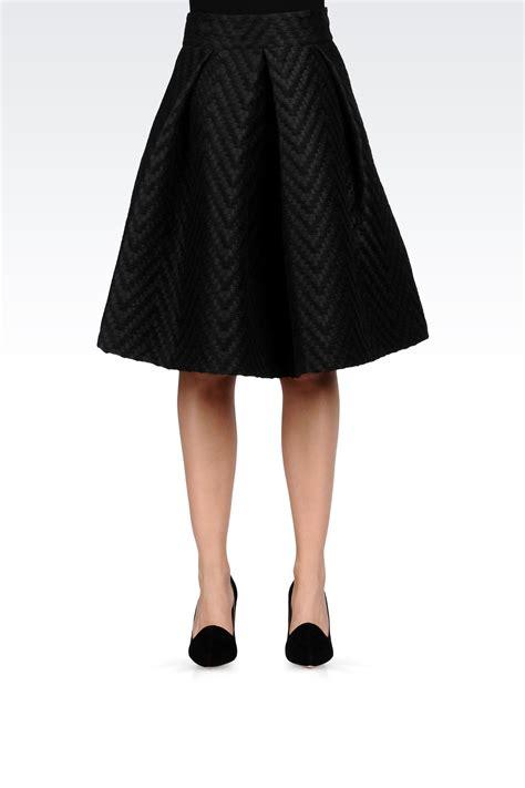 armani knee length skirt in black lyst