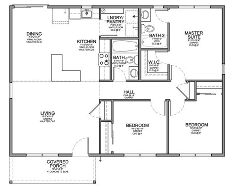 house plans bedroom bath designs floor ranch cool home