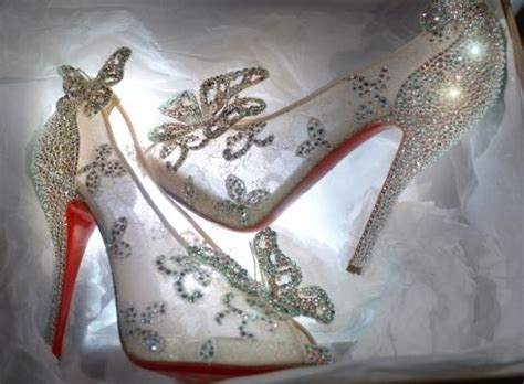 louboutin glass slipper cinderella glass slippers by christian louboutin 187 ta