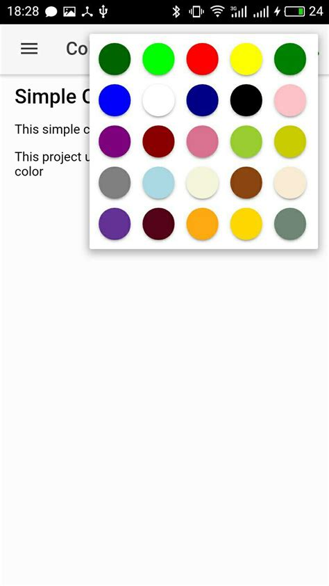 ionic colors simple color picker ionic marketplace