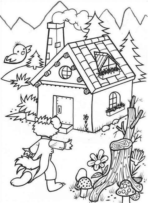 bad wolf coloring page big bad wolf coloring page coloring home