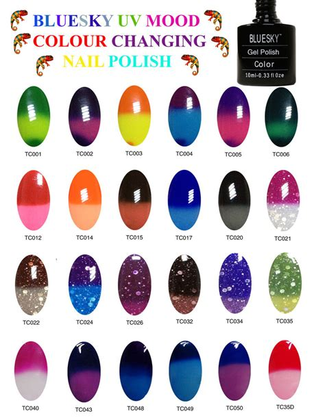 color changing shellac bluesky colour changing nail uv gel multi 10ml mood