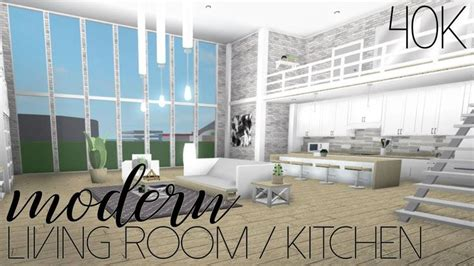 roblox   bloxburg modern living roomkitchen