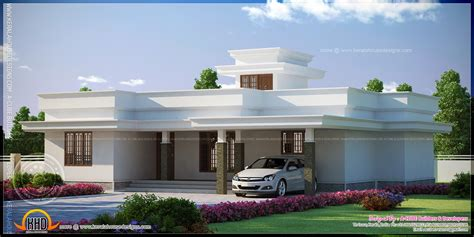 modern flat roof house designs contemporary flat roof single storied house model kerala