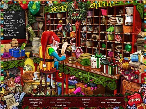werkstatt vom weihnachtsmann weihnachtsspiele beste wimmelbildspiele gegen die zeit