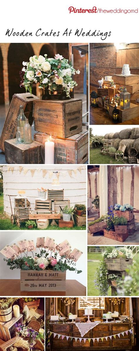 wooden crates at weddings wedding decoration inspiration wedding shabby chic and ideas