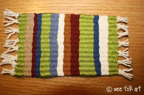 Decke Weben by Weaving A Mini Blanket 187 Wee Folk