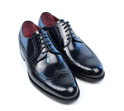 modshoes the harry all leather black brogue mod shoes