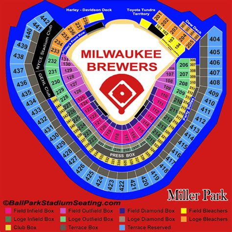 miller park seating view miller park seating chart view new map 2016