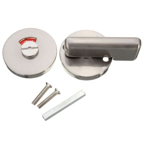 bathroom door handle and lock bathroom indicator bolt disabled facility toilet door lock
