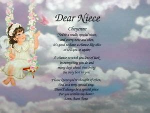 In Loving Memory Personalized Gifts Niece Poem Personalized Angel Litho Print Birthday Gift Ebay