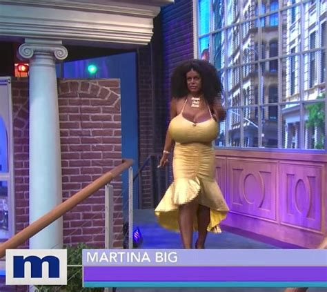 woman with the biggest thing in her vigina white glamour model martina big now identifies as black