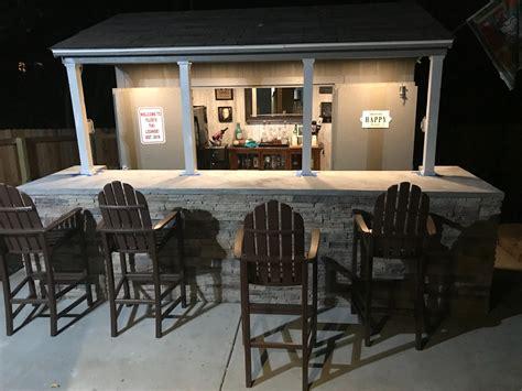 perfect party space bar shed backyard backyard bar