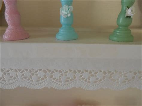 french chic lacy shabby cottage shelf liner edge paper for