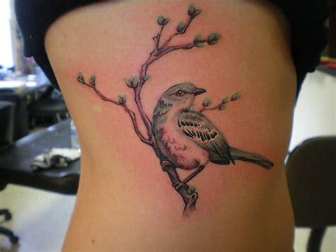mockingbird tattoo mockingbird on a branch tattoomagz
