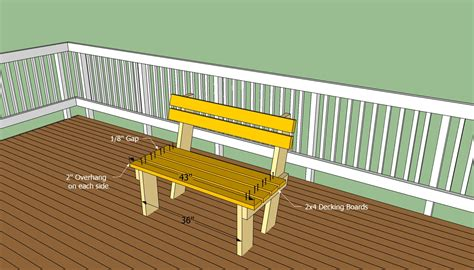 build a deck bench deck bench plans free howtospecialist how to build