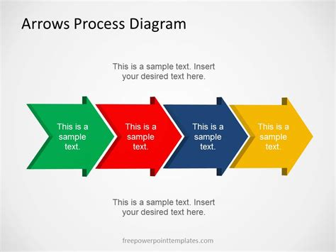 free powerpoint diagram templates free arrows process diagram template